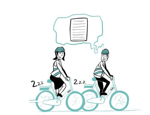 Illustraties elektrische fiets